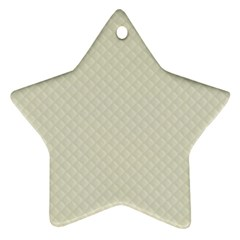 Rich Cream Stitched and Quilted Pattern Ornament (Star)
