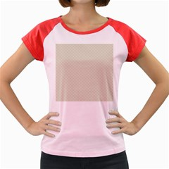 Rich Cream Stitched and Quilted Pattern Women s Cap Sleeve T-Shirt