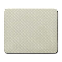 Rich Cream Stitched and Quilted Pattern Large Mousepads