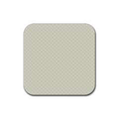 Rich Cream Stitched and Quilted Pattern Rubber Coaster (Square)