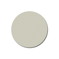 Rich Cream Stitched and Quilted Pattern Rubber Round Coaster (4 pack)
