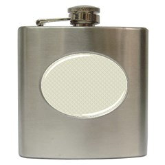 Rich Cream Stitched and Quilted Pattern Hip Flask (6 oz)