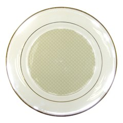 Rich Cream Stitched and Quilted Pattern Porcelain Plates