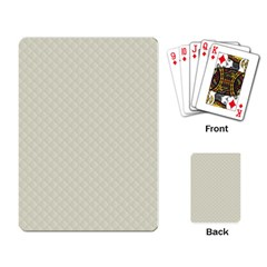 Rich Cream Stitched and Quilted Pattern Playing Card