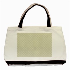 Rich Cream Stitched and Quilted Pattern Basic Tote Bag