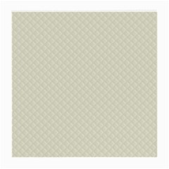 Rich Cream Stitched and Quilted Pattern Medium Glasses Cloth (2-Side)