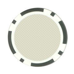 Rich Cream Stitched and Quilted Pattern Poker Chip Card Guard