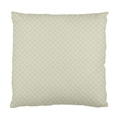 Rich Cream Stitched and Quilted Pattern Standard Cushion Case (Two Sides)