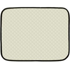 Rich Cream Stitched and Quilted Pattern Fleece Blanket (Mini)