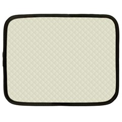 Rich Cream Stitched and Quilted Pattern Netbook Case (XXL)