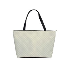 Rich Cream Stitched and Quilted Pattern Shoulder Handbags