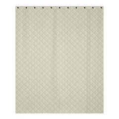 Rich Cream Stitched and Quilted Pattern Shower Curtain 60  x 72  (Medium)