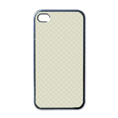 Rich Cream Stitched and Quilted Pattern Apple iPhone 4 Case (Black)