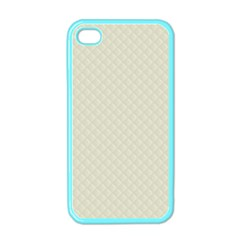 Rich Cream Stitched and Quilted Pattern Apple iPhone 4 Case (Color)