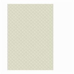Rich Cream Stitched and Quilted Pattern Small Garden Flag (Two Sides)