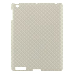 Rich Cream Stitched and Quilted Pattern Apple iPad 3/4 Hardshell Case