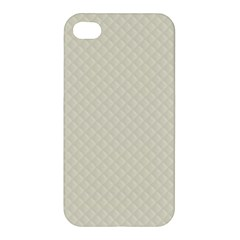 Rich Cream Stitched and Quilted Pattern Apple iPhone 4/4S Premium Hardshell Case