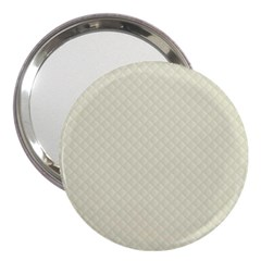 Rich Cream Stitched and Quilted Pattern 3  Handbag Mirrors