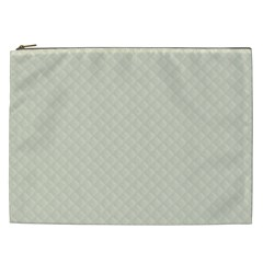 Rich Cream Stitched and Quilted Pattern Cosmetic Bag (XXL)