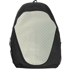 Rich Cream Stitched and Quilted Pattern Backpack Bag