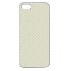 Rich Cream Stitched and Quilted Pattern Apple Seamless iPhone 5 Case (Clear)