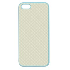 Rich Cream Stitched and Quilted Pattern Apple Seamless iPhone 5 Case (Color)
