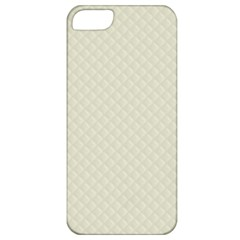 Rich Cream Stitched and Quilted Pattern Apple iPhone 5 Classic Hardshell Case