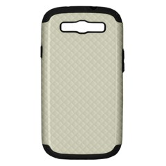 Rich Cream Stitched and Quilted Pattern Samsung Galaxy S III Hardshell Case (PC+Silicone)