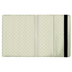 Rich Cream Stitched and Quilted Pattern Apple iPad 3/4 Flip Case