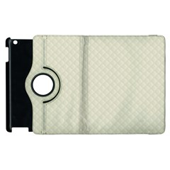 Rich Cream Stitched and Quilted Pattern Apple iPad 2 Flip 360 Case