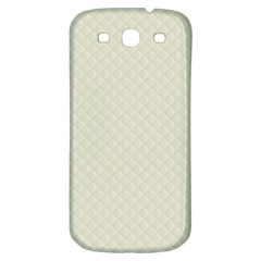 Rich Cream Stitched and Quilted Pattern Samsung Galaxy S3 S III Classic Hardshell Back Case