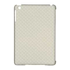 Rich Cream Stitched and Quilted Pattern Apple iPad Mini Hardshell Case (Compatible with Smart Cover)