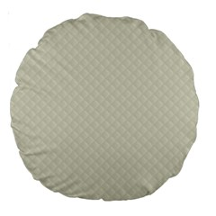 Rich Cream Stitched And Quilted Pattern Large 18  Premium Round Cushions