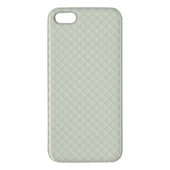 Rich Cream Stitched and Quilted Pattern Apple iPhone 5 Premium Hardshell Case