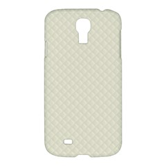 Rich Cream Stitched and Quilted Pattern Samsung Galaxy S4 I9500/I9505 Hardshell Case