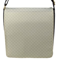 Rich Cream Stitched and Quilted Pattern Flap Messenger Bag (S)