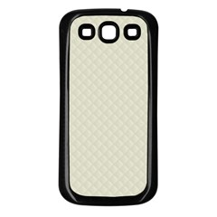 Rich Cream Stitched and Quilted Pattern Samsung Galaxy S3 Back Case (Black)