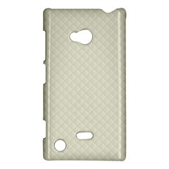 Rich Cream Stitched and Quilted Pattern Nokia Lumia 720