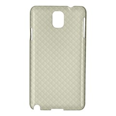 Rich Cream Stitched And Quilted Pattern Samsung Galaxy Note 3 N9005 Hardshell Case