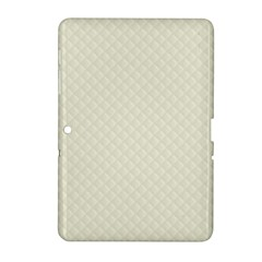 Rich Cream Stitched and Quilted Pattern Samsung Galaxy Tab 2 (10.1 ) P5100 Hardshell Case