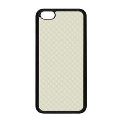 Rich Cream Stitched and Quilted Pattern Apple iPhone 5C Seamless Case (Black)
