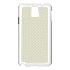 Rich Cream Stitched and Quilted Pattern Samsung Galaxy Note 3 N9005 Case (White)