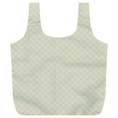 Rich Cream Stitched and Quilted Pattern Full Print Recycle Bags (L)