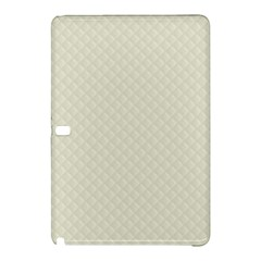 Rich Cream Stitched and Quilted Pattern Samsung Galaxy Tab Pro 10.1 Hardshell Case