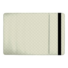 Rich Cream Stitched and Quilted Pattern Samsung Galaxy Tab Pro 10.1  Flip Case