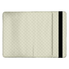 Rich Cream Stitched and Quilted Pattern Samsung Galaxy Tab Pro 12.2  Flip Case