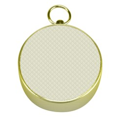 Rich Cream Stitched and Quilted Pattern Gold Compasses