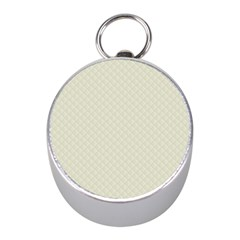 Rich Cream Stitched and Quilted Pattern Mini Silver Compasses