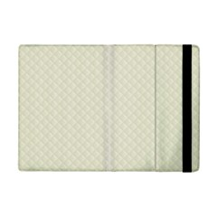 Rich Cream Stitched and Quilted Pattern iPad Mini 2 Flip Cases
