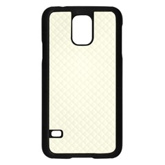 Rich Cream Stitched and Quilted Pattern Samsung Galaxy S5 Case (Black)